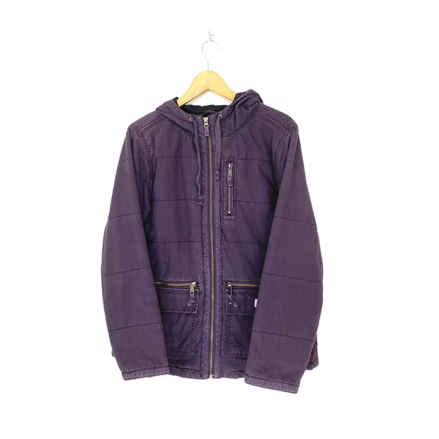 Womens M Purple Hooded Carhartt Jacket - DURT