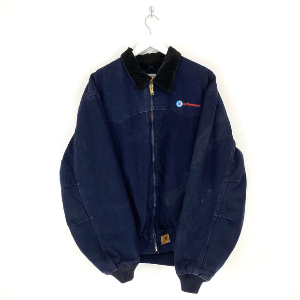 XL McKenneys Navy WIP Carharrt Jacket - DURT