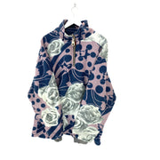 XL Rose Print Vintage Ski Fleece - DURT