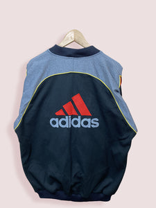 XL Vintage Adidas Ribbed Collar Track Top - DURT
