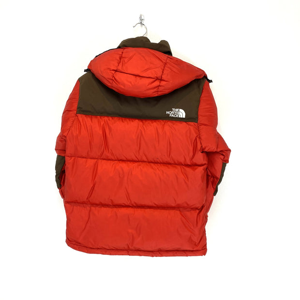 XS TNF Red and Brown Baltoro Puffer - DURT
