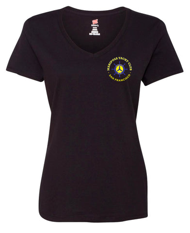 Mariposa Yacht Club Ladies V-Neck T