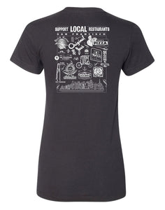 Support Local SF Restaurant Women's Tee