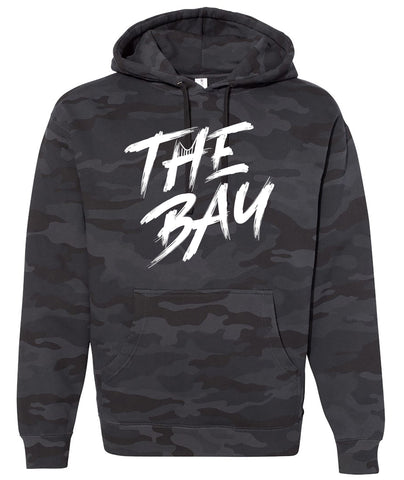 San Francisco Bay Area black camo hoodie.