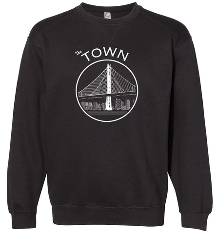The Town Adult Black Crewneck Sweatshirt