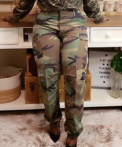 Vintage Camouflage Pant: Fits S/M