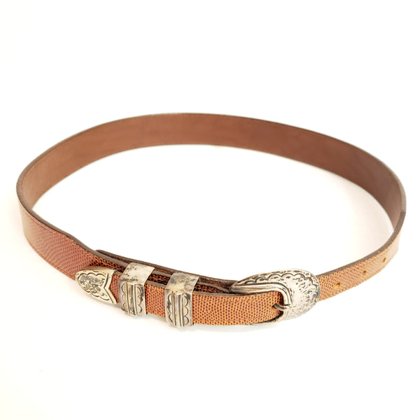 Vintage Leather Belt: Size S