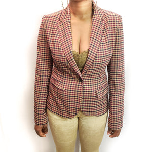 Plaid Blazer: Size 8