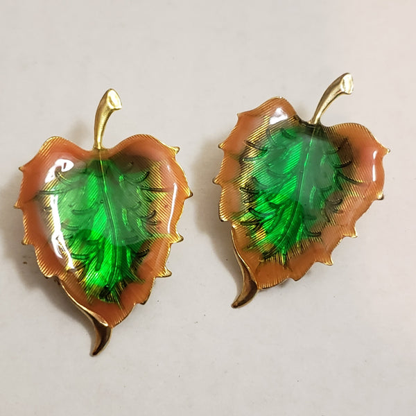 Fall Leaf Vintage Earring