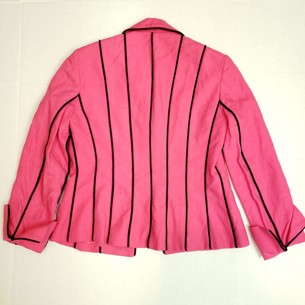 Black Stripe Vintage Jacket: Fits S