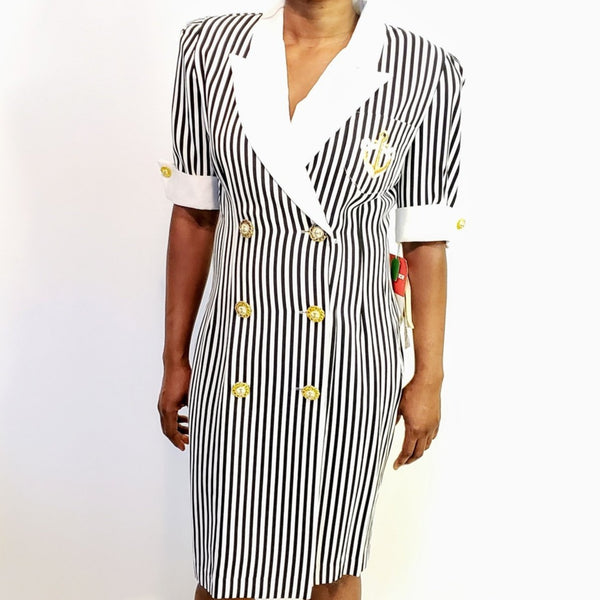 Vintage Stripe Dress - Size S