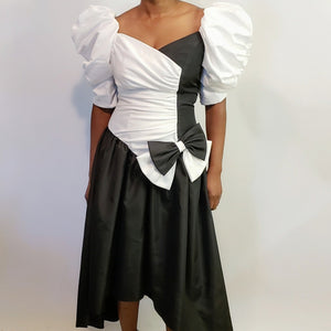 Taffeta Side-Bow Vintage Dress - Fits M/L