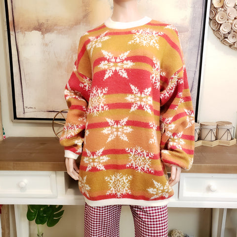 Vintage Christmas Sweater: Size XL