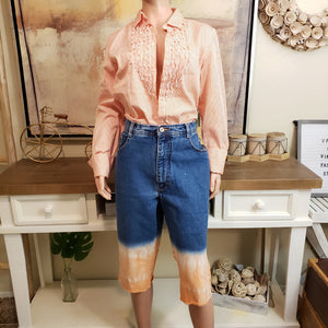 Two-tone Knee Length Denim: Size 18