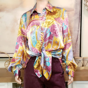 Satin Blouse: Size 16