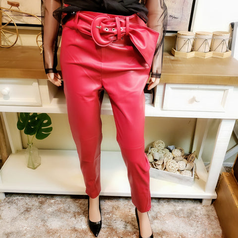 Leather Pant: Fits M