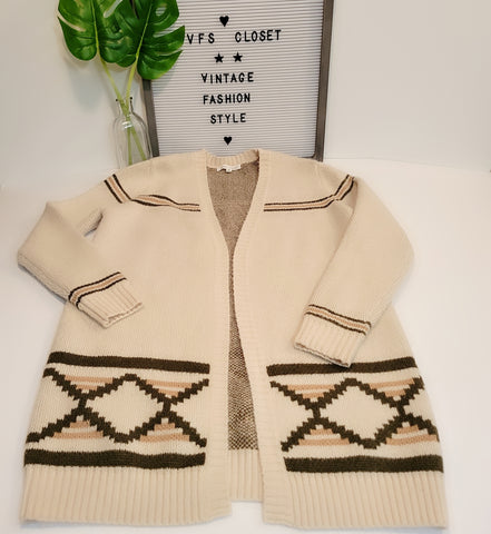 Long Sleeve Cardigan: Fits M/L