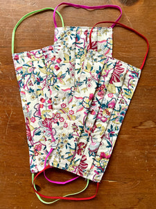 Liberty  of London floral pattern. With multi color elastic. Please accept variation received with love!