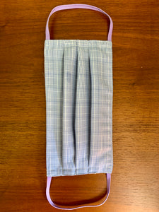 Pale blue self plaid with lilac elastic