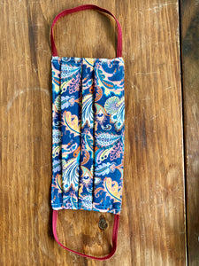 Liberty of London Blue floral with black or white elastic. please accept variations with love!