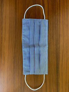 Dark navy candy stripe. white elastic.