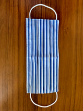 Load image into Gallery viewer, Two tone navy stripe. white elastic  Reversible!