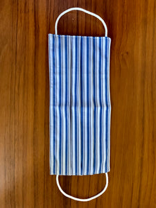 Two tone navy stripe. white elastic  Reversible!