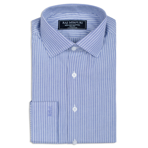 Bespoke - Navy Blue Mini Gingham Shirt