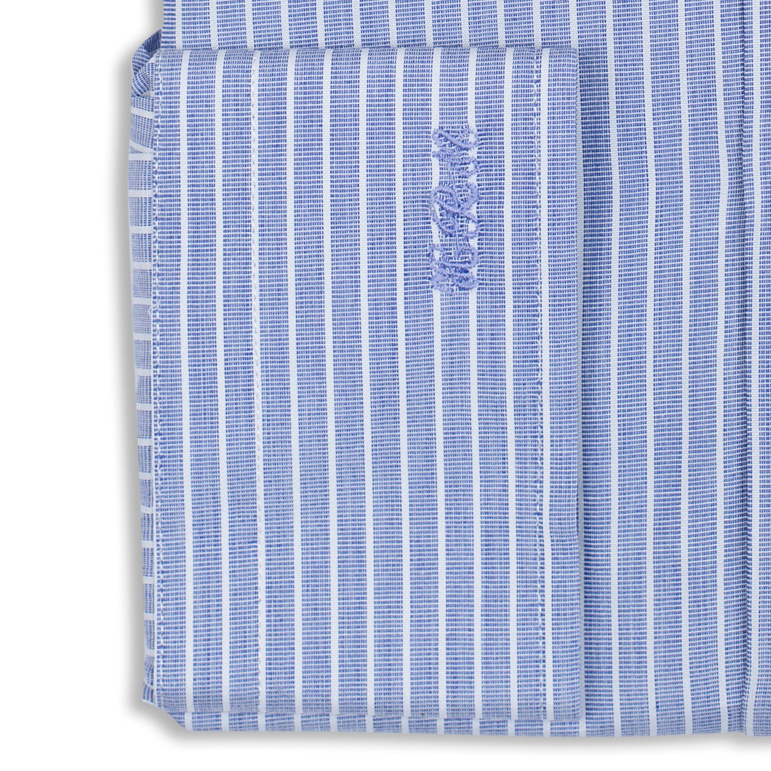 Bespoke - Blue & White Striped Shirt
