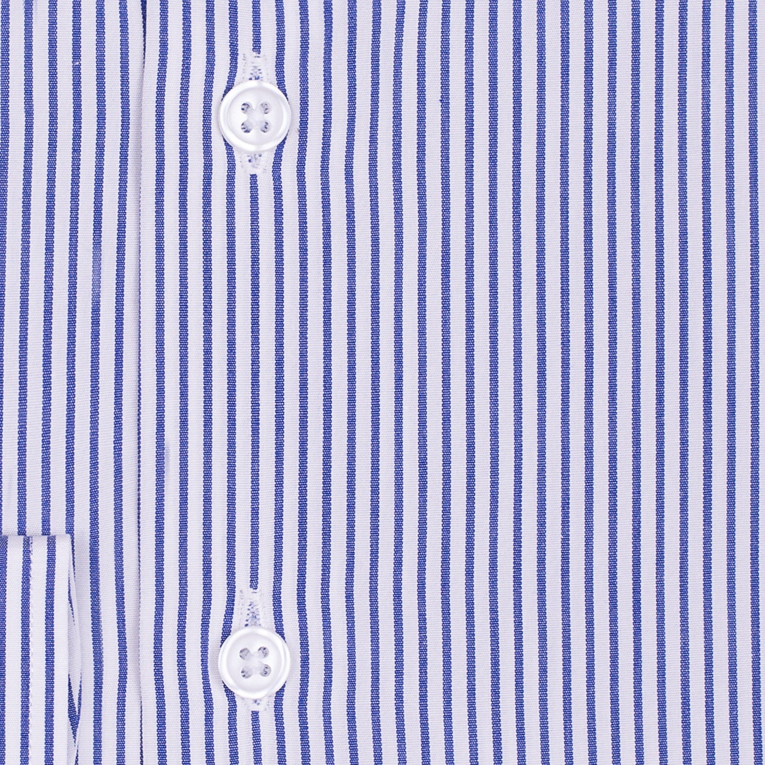 Bespoke - White & Dark Blue Medium Striped Shirt