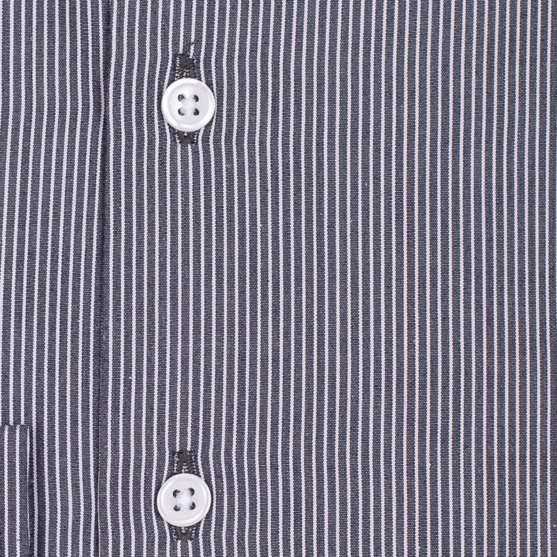 Bespoke - Black & White Striped Shirt