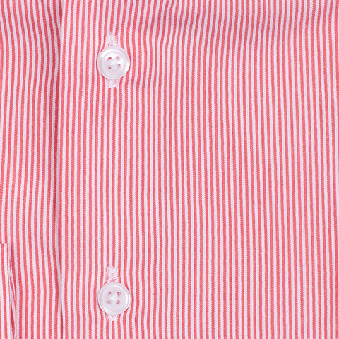 Bespoke - Red & White Striped Shirt