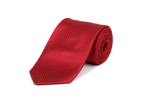 Red Hexagon 100% Silk Tie