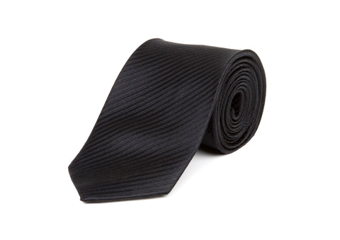 Navy Blue Pattern 100% Silk Tie