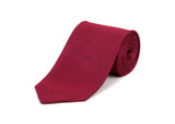 Red Herringbone 100% Silk Tie
