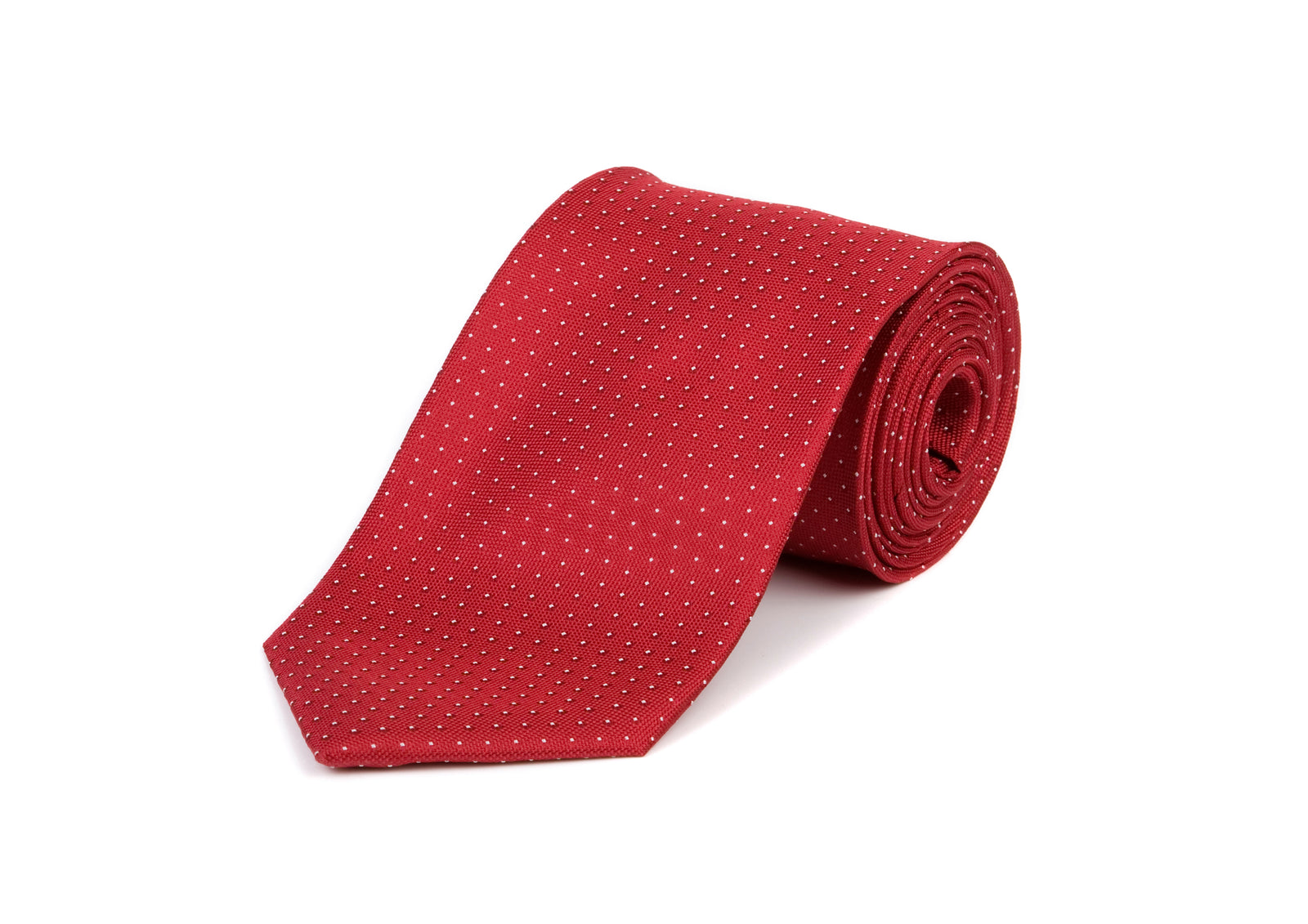 Red Dotted Tie 100% Silk Tie