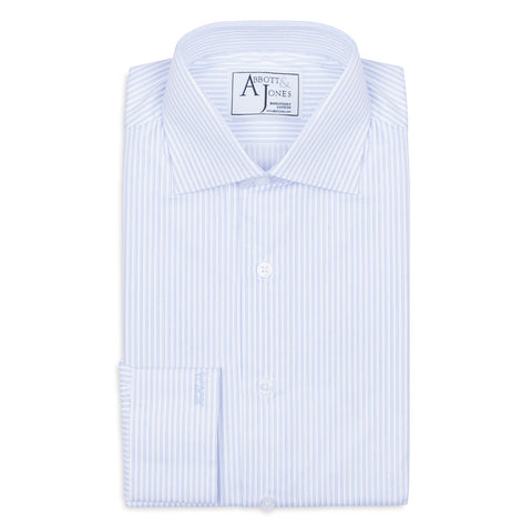 CLEARANCE -Grey Striped Bespoke Shirt
