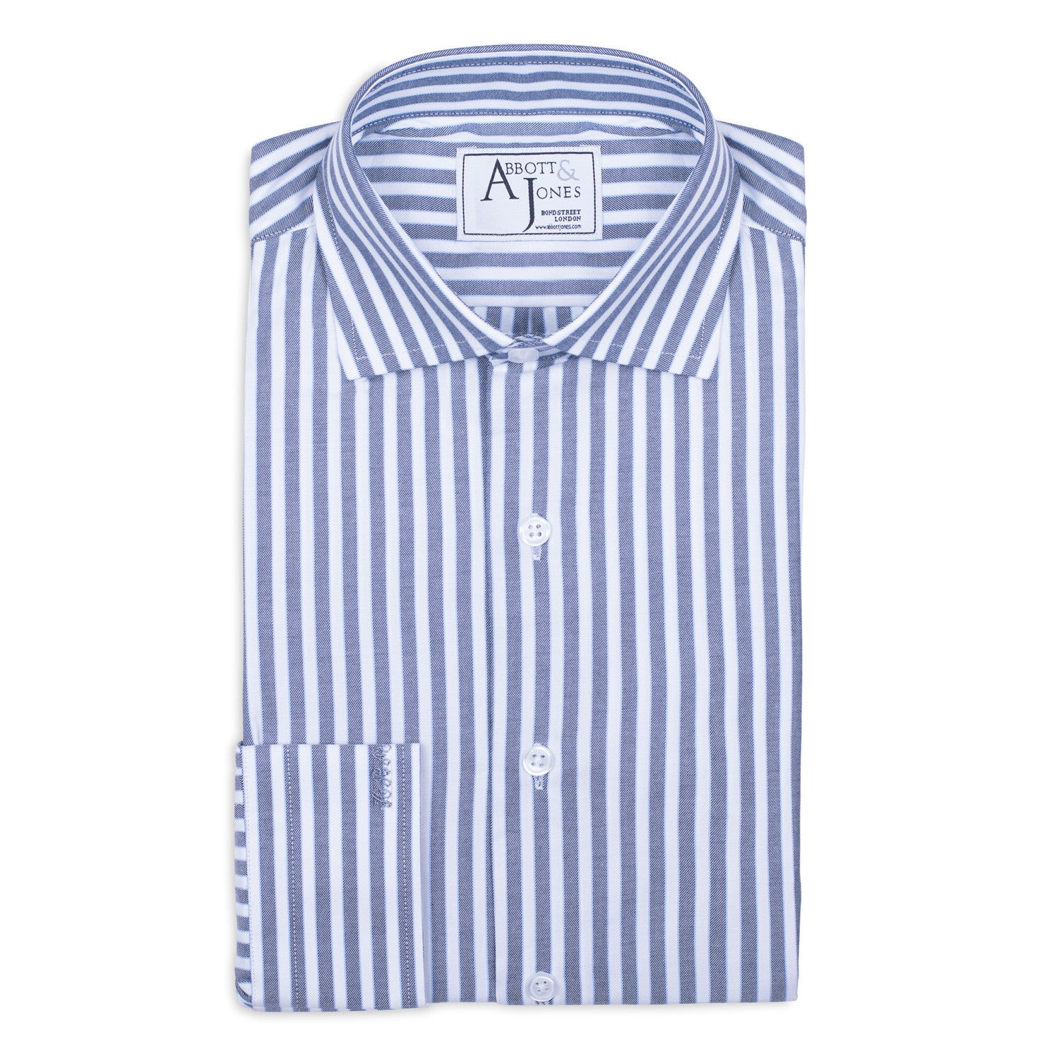 Grey Striped Bespoke Shirt