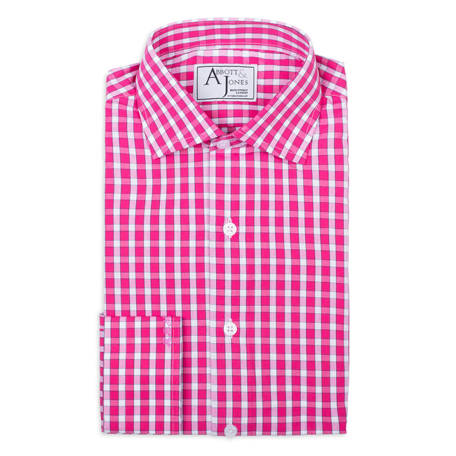Pink Checked Bespoke Shirt