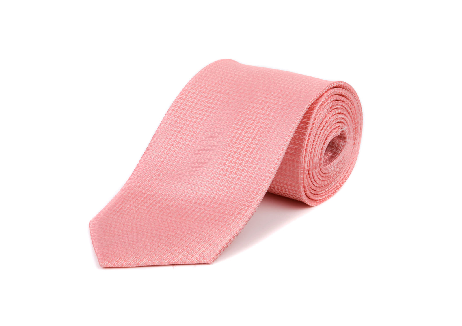 Pink Square Patterned Tie 100% Silk Tie