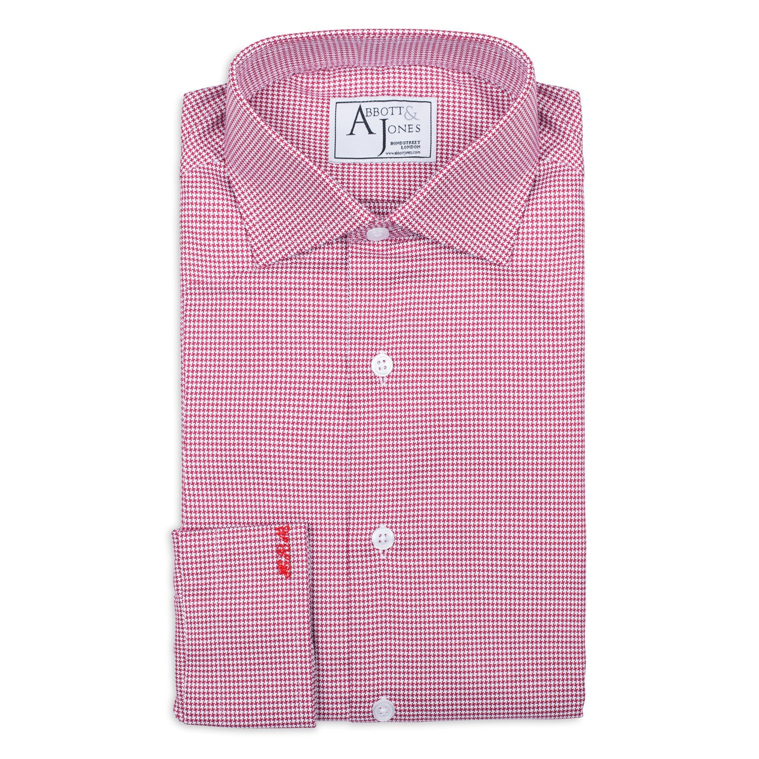 Red Textured Bespoke Shirt