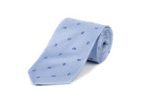 Light Blue Bean 100% Silk Tie