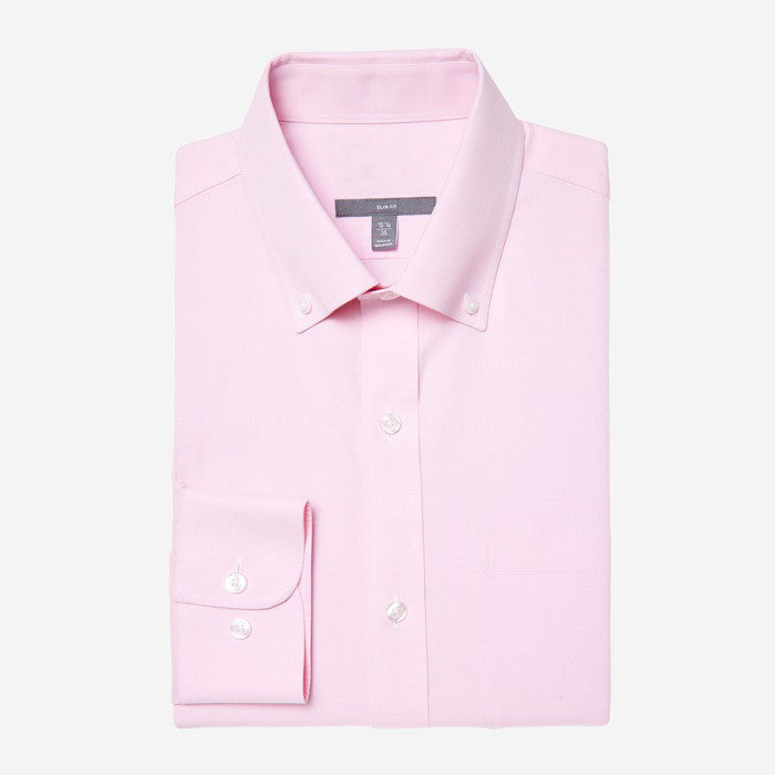 Bespoke - Button Down Pink Oxford Shirt