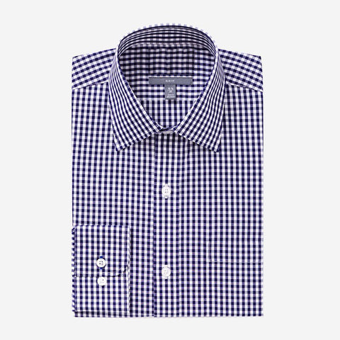 Bespoke - Navy Checked Shirt
