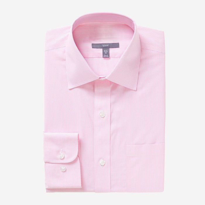 Bespoke - Pink with White Pinstripes