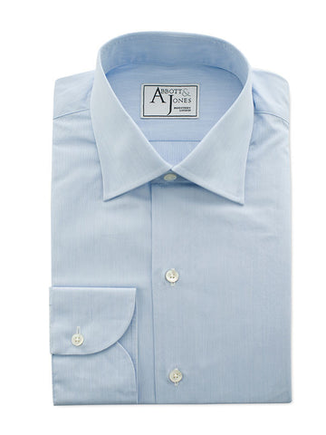 Bespoke - Light Blue End on End Shirt - Button Cuff