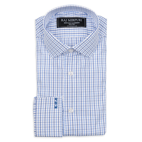 Bespoke - Light Blue & White Hairline Stripe Shirt