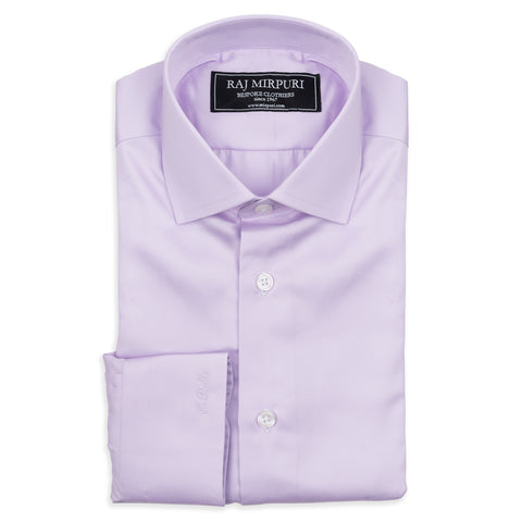 Bespoke - Blue & Lavender Tattersall Tailored Shirt