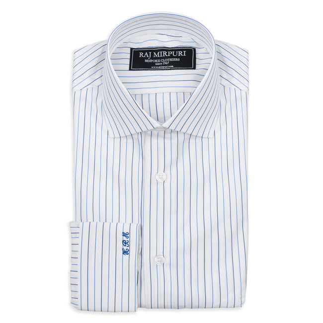 Bespoke - Blue Striped Tailored Shirt