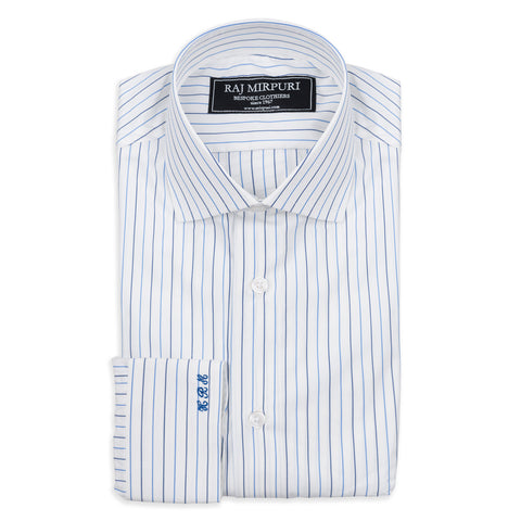 Bespoke - Grey Hairline Striped Shirt